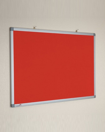 Corded Hessian Noticeboard Aluminium Frame