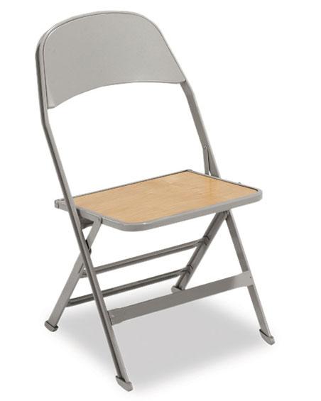 2517WS Heavy Duty Folding Chair Wooden Seat