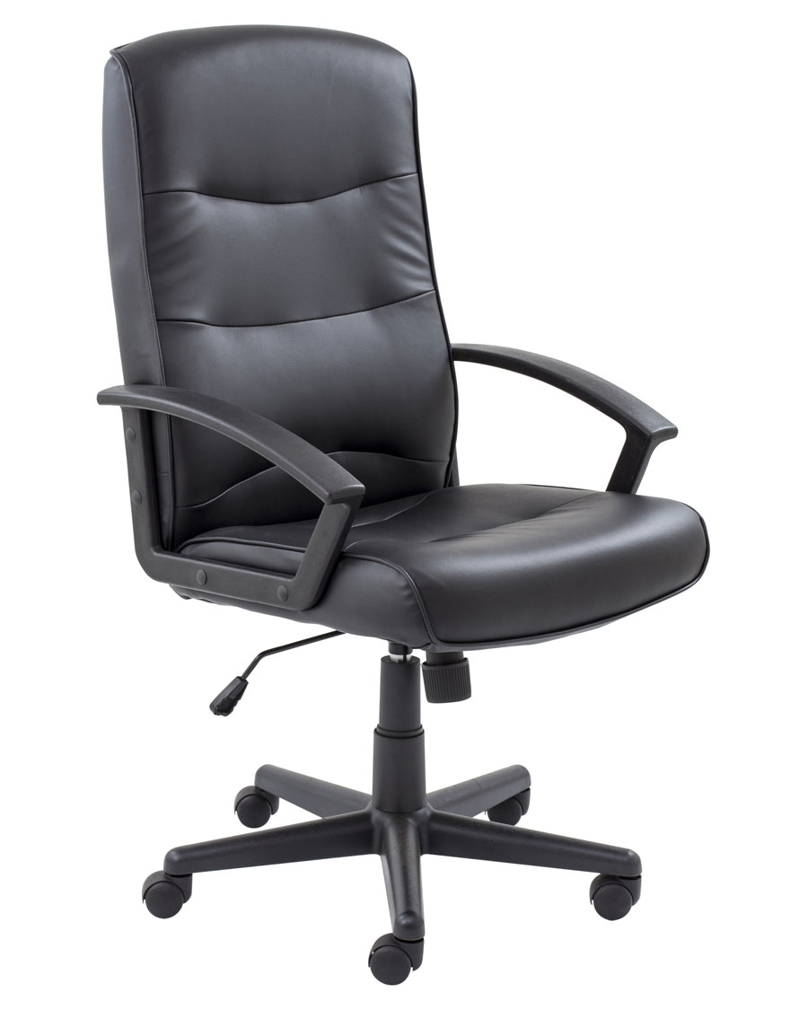 canasta faux leather office chair 24h