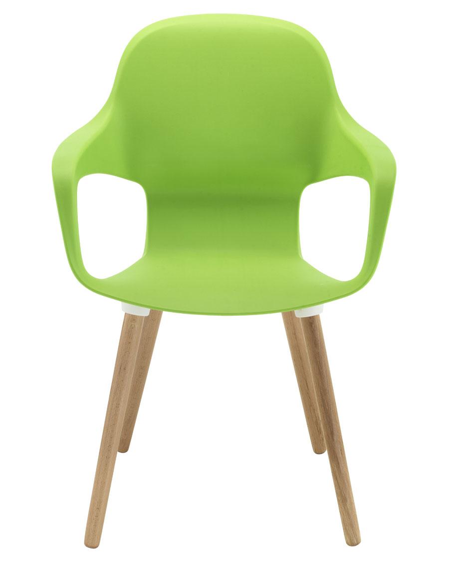 Ariel 2 Wooden Leg Cafe Chair 24H
