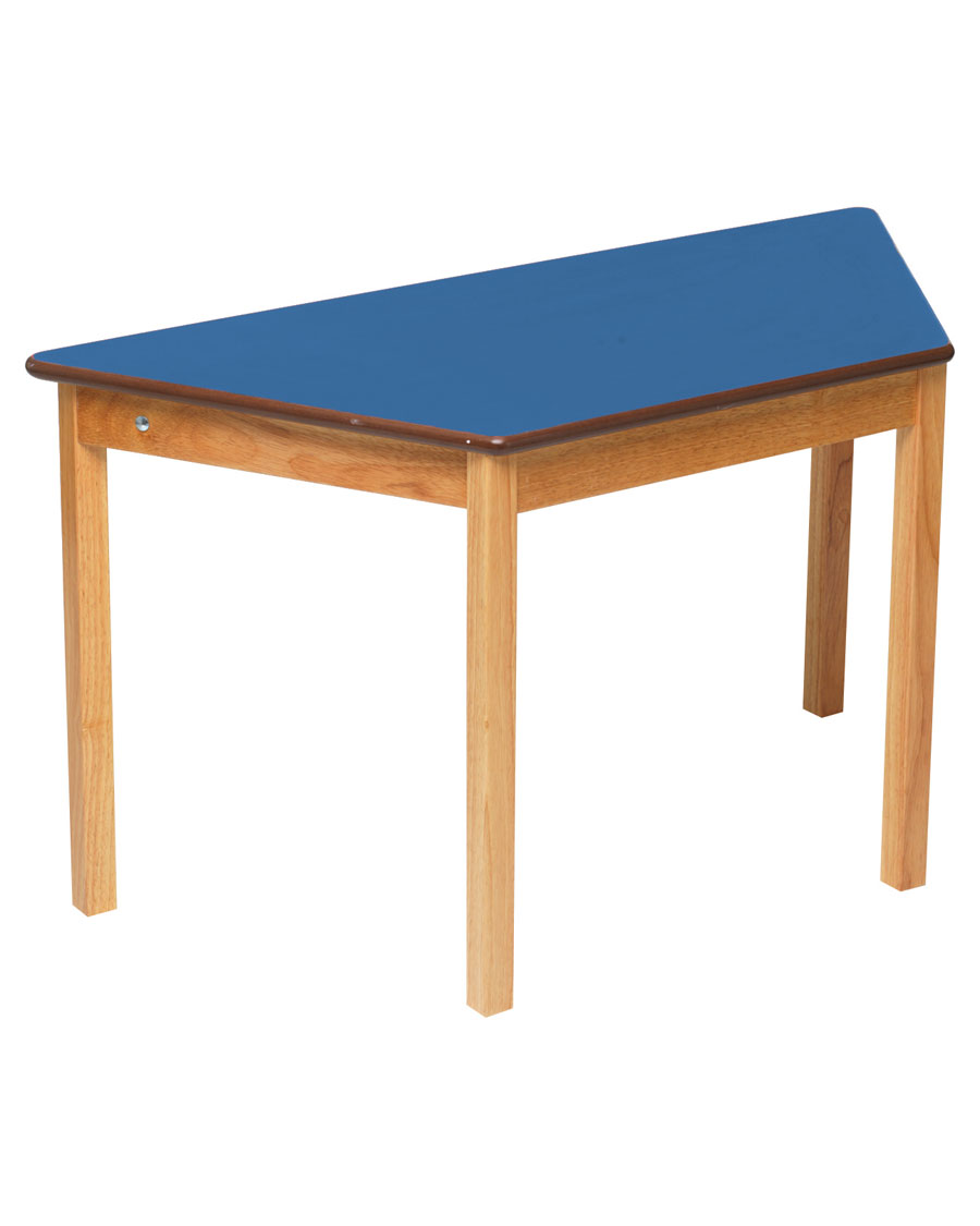 Tuf class children 39 s trapezoidal wooden table blue for Html table class