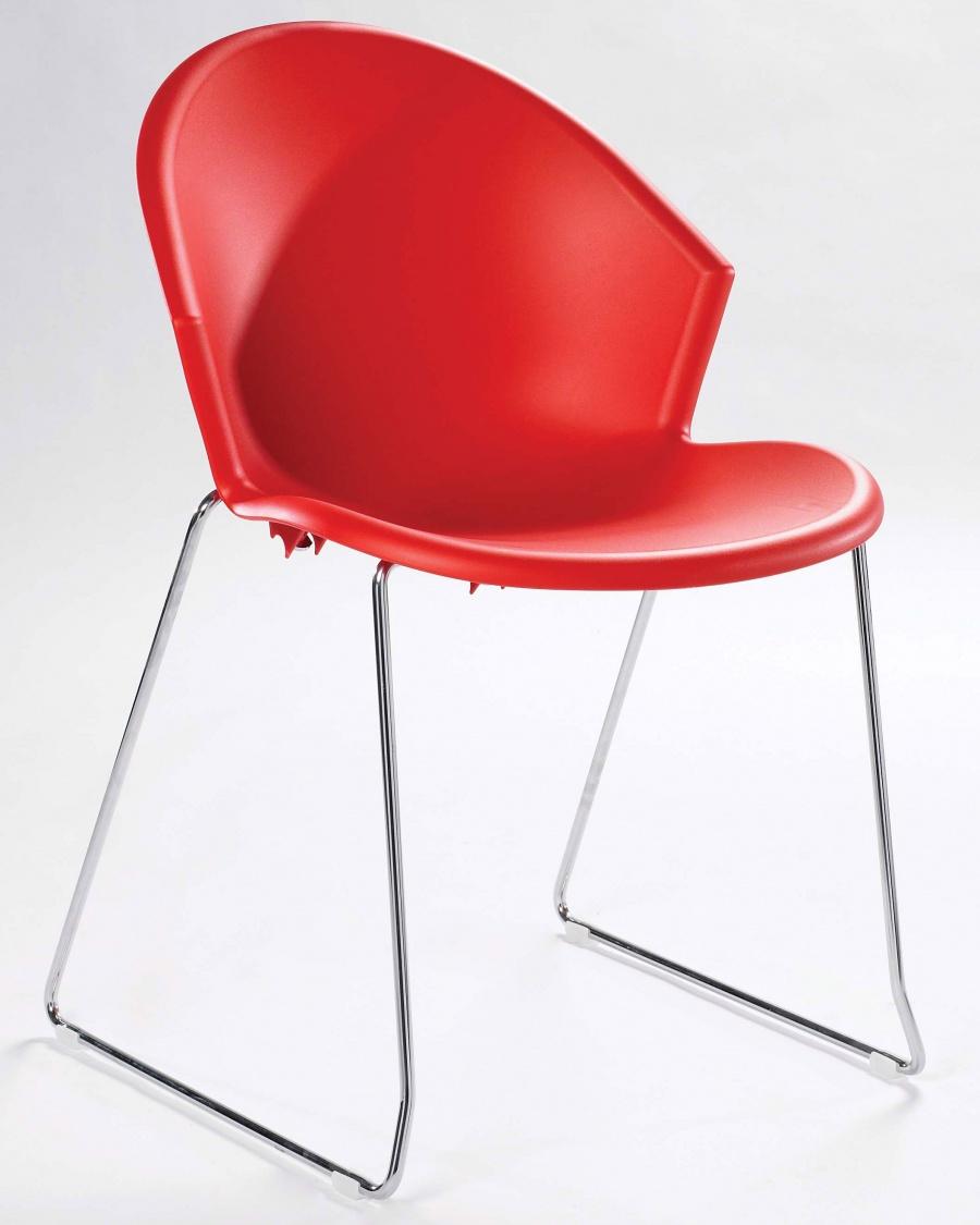 Ava Sled Base Plastic Cafe Chair