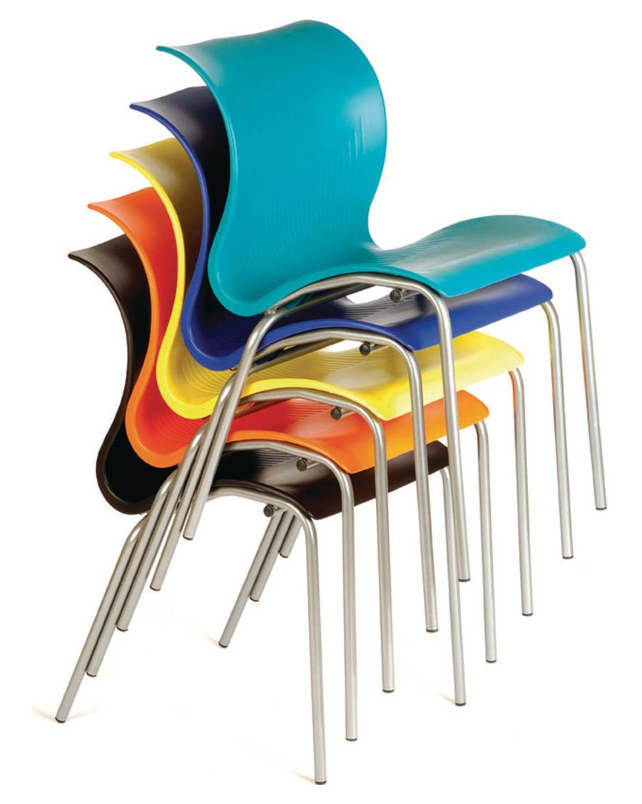 Bahia Plastic Cafe Chair Pack Of 4