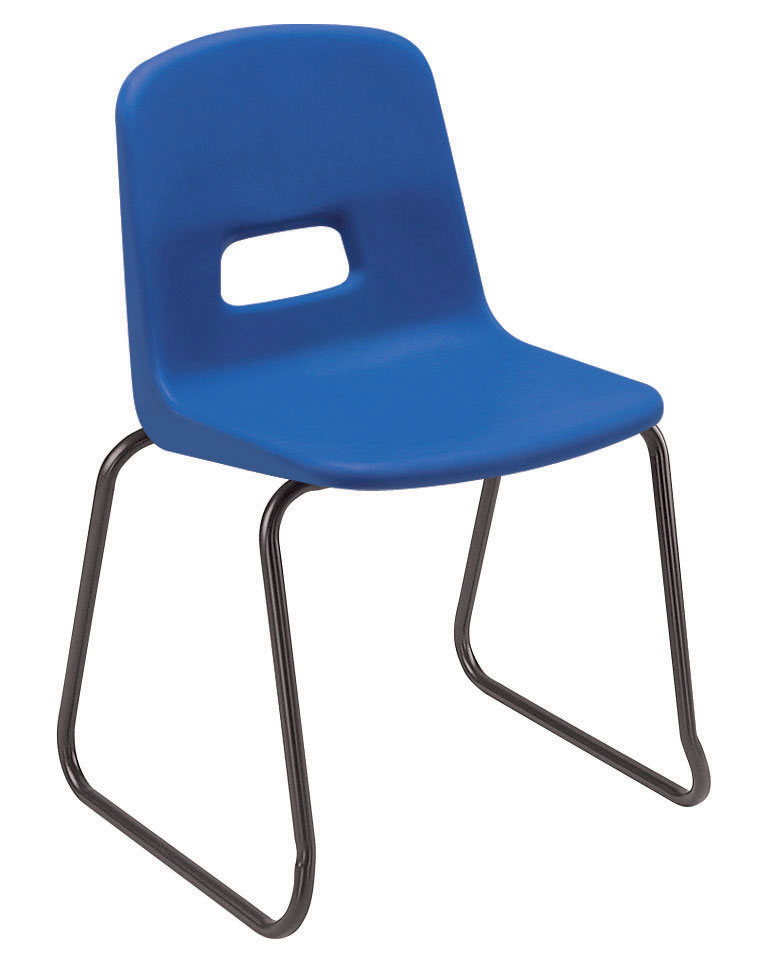 Remploy RF70 Skid Base Plastic Stacking Chair