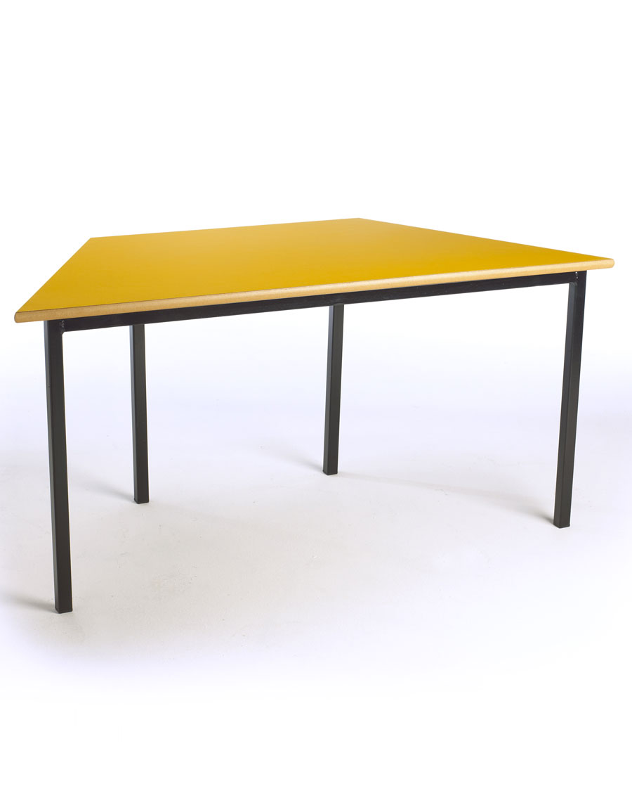 Children 39 s trapezoidal table for Trapazoid table