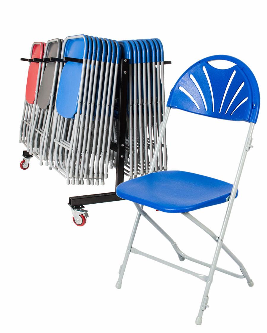 chair trolley. 60 exam fan-back folding chair + trolley
