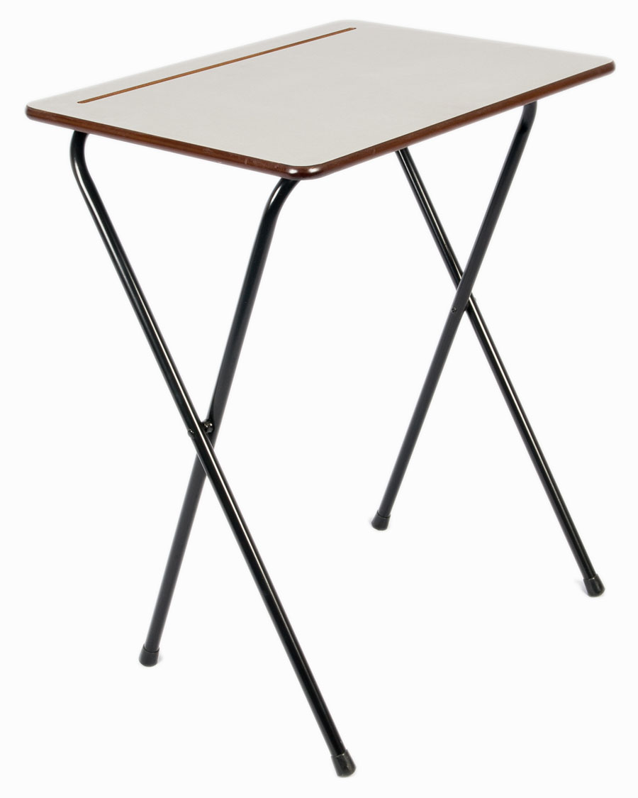 Small folding exam desk for Small folding desk table