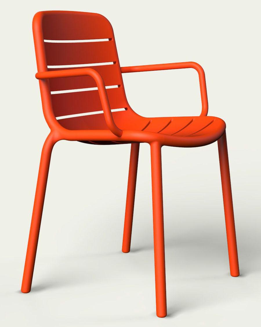 Gina Indoor / Outdoor Plastic Stacking Armchair