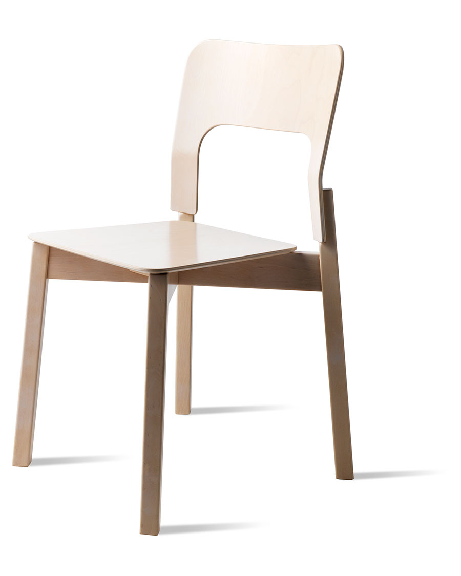 S 393a Wooden Stacking Chair
